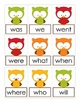 The Owl and the Fox Game Cards: Sight Words Center Games