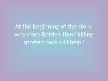 There's an Owl in the Shower Jeopardy Game