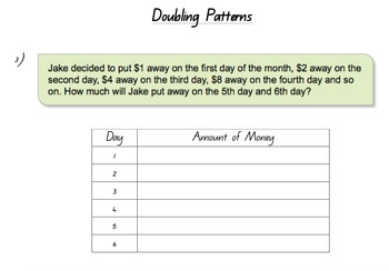 The OzE Teacher - Number and Doubling Patterns