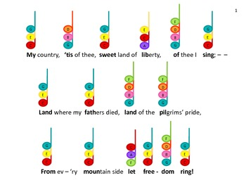 The PATRIOTIC COLLECTION of Color-Chord-inated Songs for Bells or Boomwhackers