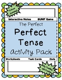 The PERFECT Perfect Tense Activity Pack-- NOTES, GAME, 32TASK CARDS, QUIZ, WS