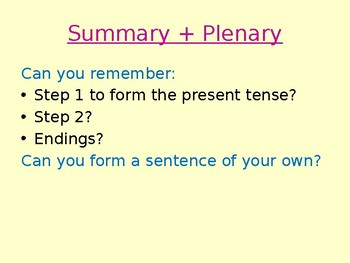 The PRESENT TENSE in Spanish of -AR verbs