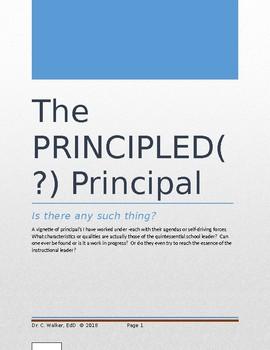 The PRINCIPLED (?) Principal
