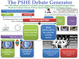 The PSHE Debate Generator [200+ Debates, Randomisation Feature] Health Tutor