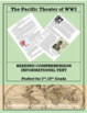 The Pacific Theater--Informational Text Worksheet