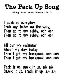 The Pack Up Song