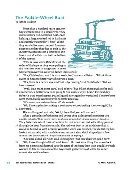 The Paddle Wheel Boat - Informational Text Test Prep