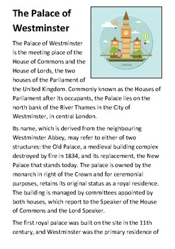 The Palace of Westminster Handout