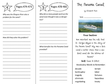 The Panama Canal Trifold - Imagine It 6th Grade Unit 4 Week 5