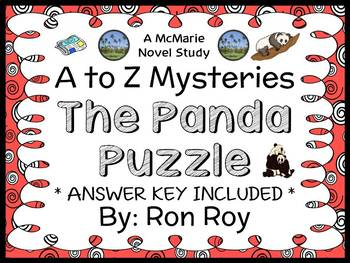 The Panda Puzzle : A to Z Mysteries (Ron Roy) Novel Study / Comprehension