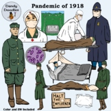 The Pandemic of 1918 Clip Art by Dandy Doodles