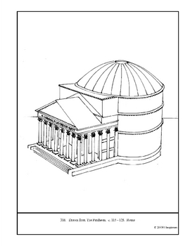 The Pantheon.  Coloring page and lesson plan ideas