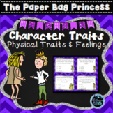 The Paper Bag Princess Character Trait Task Cards | Fairy Tales Activity