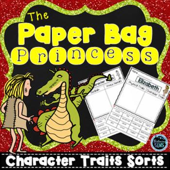 The Paper Bag Princess Character Traits Sorting