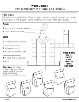 The Paper Bag Princess Lesson Plans & Activities Package,Second Grade (CCSS)
