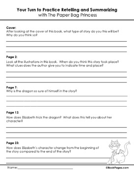 The Paper Bag Princess Lesson Plans & Activities Package,Second Grade (CCSS)
