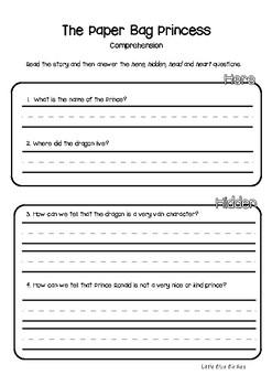 The Paper Bag Princess Literacy Unit