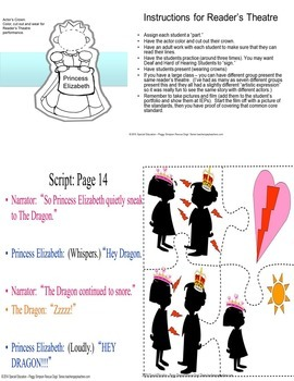 The Paper Bag Princess Reader's Theatre & Activities ASL, SPED, ELD