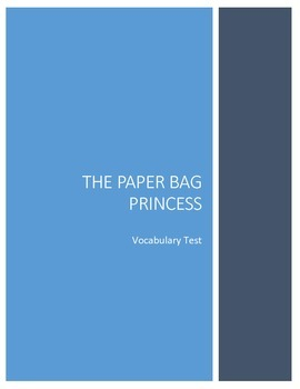 The Paper Bag Princess Vocabulary Test