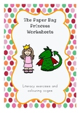 The Paper Bag Princess Worksheets