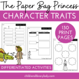 The Paper Bag Princess: Character Trait Graphic Organizers & Activities