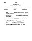The Paper Crane Vocabulary