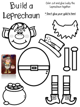 St Patrick's Day Craftivity - The Paper Leprechaun - Fun Printable Poem Activity