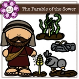 The Parable of The Sower Digital Clipart (color and black&white)