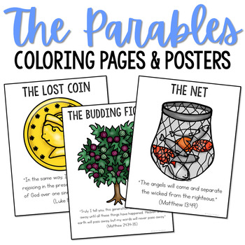 The Parables Posters and Coloring Pages, Sunday School Lessons, CCD