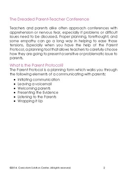 The Parent Protocol: A Plan for Talking About Sensitive Issues {Conferences}