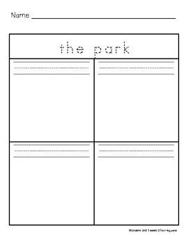 The Park Four-Square Writing
