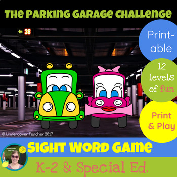 The Parking Garage Challenge Sight Word Game - Printable
