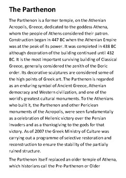 The Parthenon Handout