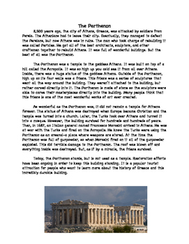 The Parthenon Main Idea