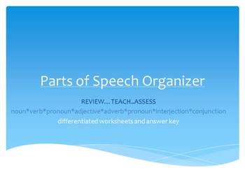 The Parts of Speech Organizer
