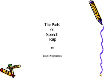 The Parts of Speech Rap Powerpoint