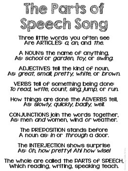 The Parts of Speech Song