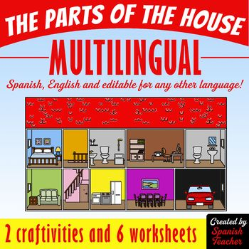 The Parts of The House MULTILINGUAL