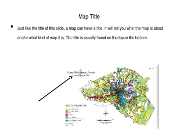 The Parts of a Map PowerPoint