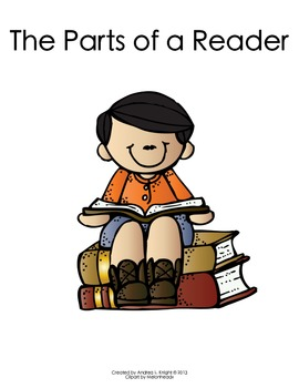 The Parts of a Reader:  Boy  {Melonheadz Clipart Version}