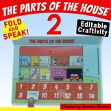 The Parts of the House 2 - Editable Craftivity