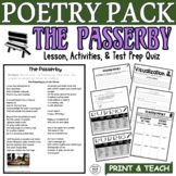 The Passerby by Menke: Common Core Poetry Test Prep Lesson, Quiz, Activities