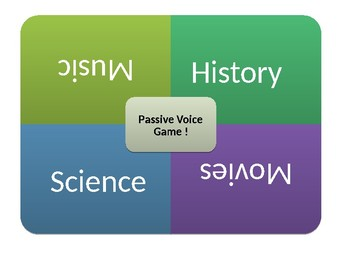 The Passive voice game