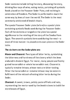 The Passover Seder Handout