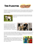 The Passover in a Nutshell
