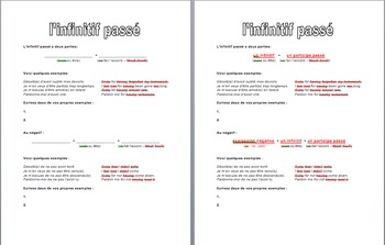 The Past Infinitive : Introductory Handout