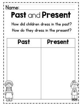 The Past and Present: A Mini-Unit for Kids!