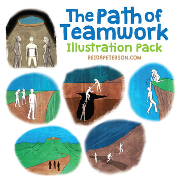 The Path of Teamwork Illustration Pack