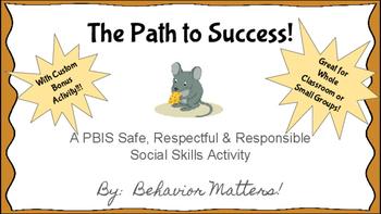 The Path to Success!  PBIS Social Skills Activity Set