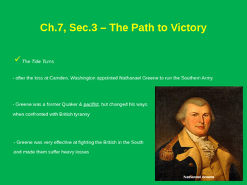 The Path to Victory - American Revolution